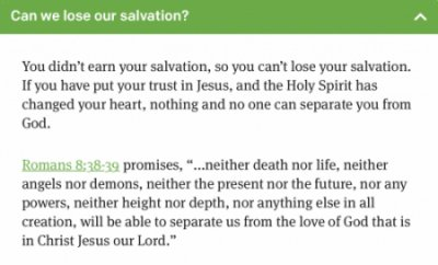 Can we lose our salvation?